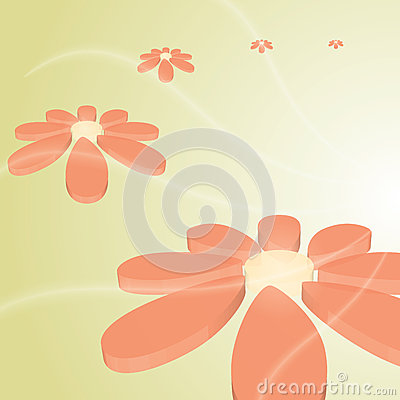 Hi-tech vector beautiful flower