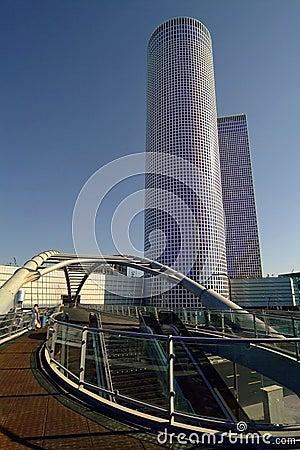 Hi-tech view over Tel Aviv