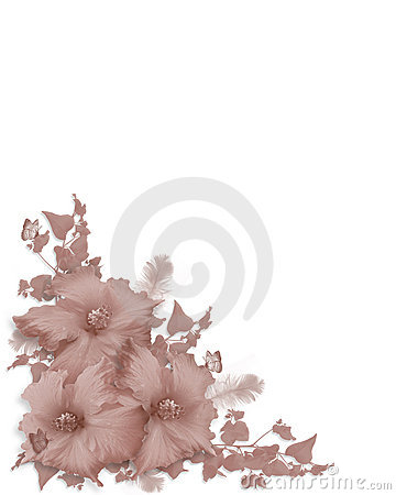 Hibiscus pink Monochrome invitation