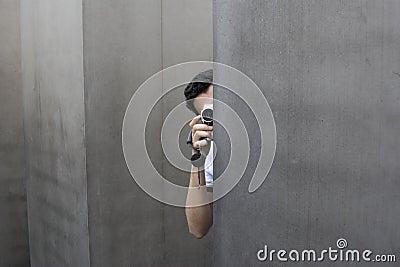 Hidden camera man