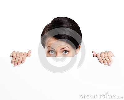Hiding beautiful woman