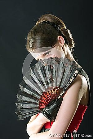 Hiding behind fan