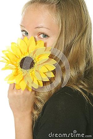 Hiding behing flower