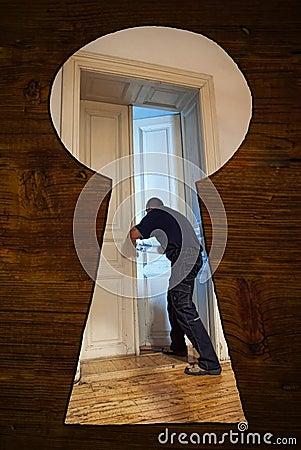 hiding in the closet stock photos image 31570483