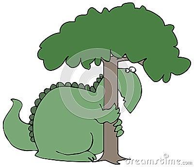 Hiding Dinosaur