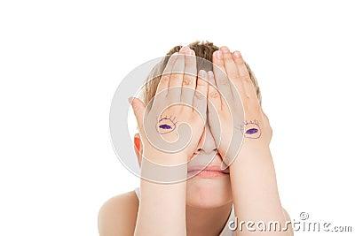 Hiding eyes