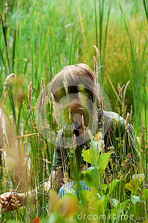 Hiding in the field
