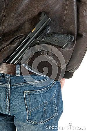 Hiding a gun