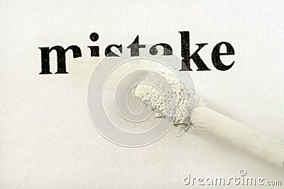 Hiding mistakes