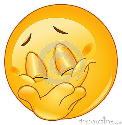 Free Hiding Smile Emoticon Royalty Free Stock Photo - 22051395