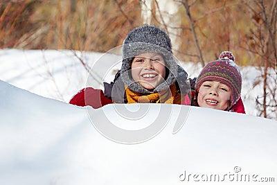 Hiding in snow