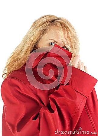 Hiding spy girl