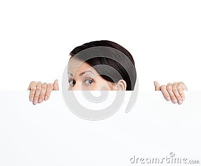 Hiding woman