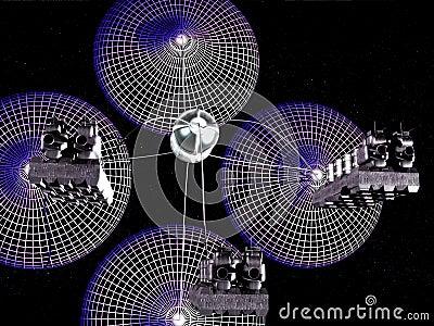 Hidrogen scoop spacecraft