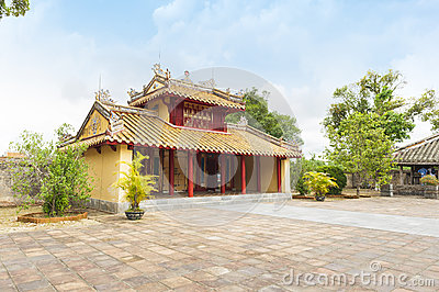 Hien Duc Gate at Minh Mang tomb - The Imperial City of Hue, VIet