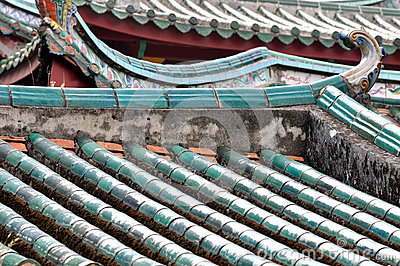 Hierarchical roof in Chinese old temple