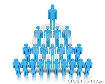 Hierarchie von Leuten.