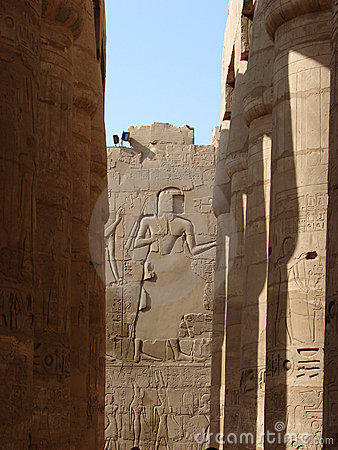 Hieroglyph wall & pillar