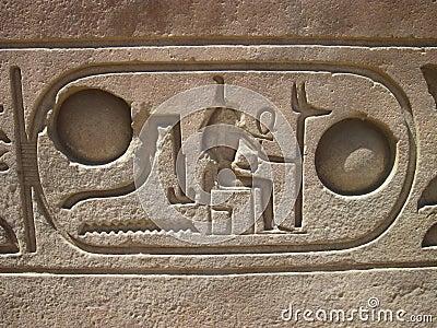 Hieroglyphics in Luxor Temple, Egypt