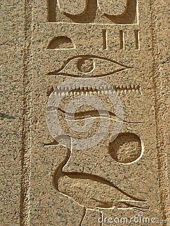 Hieroglyphs, Luxor
