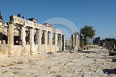 Hieropolis Ruins in Pammukale Turkey