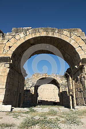 Hieropolis Ruins in Pamukkale Turkey
