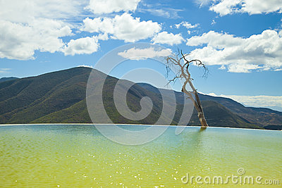 Hierve el agua in oaxaca state, mexico