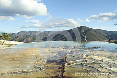 Hierve el agua in oaxaca state, mexico