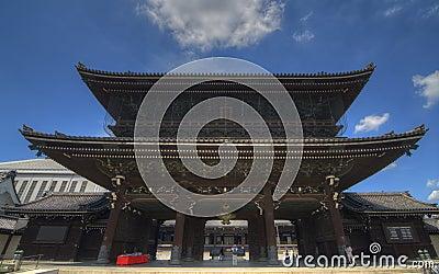 Higashi Hongan-ji in Kyoto, Japan Editorial Image