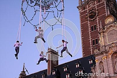 High air acrobats Editorial Image