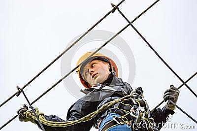 High altitude adventure Stock Photo