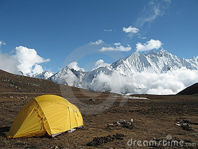 High altitude camping in Nepal