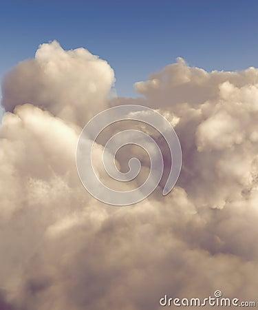 High altitude cumulus clouds