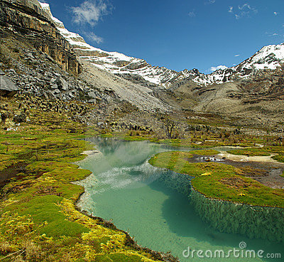 Free High Altitude Lake And Mountains Of The Andes Royalty Free Stock Photos - 11770138
