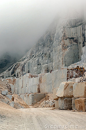 High altitude marble quarry