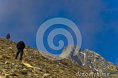 High Altitude Mountain Climbers
