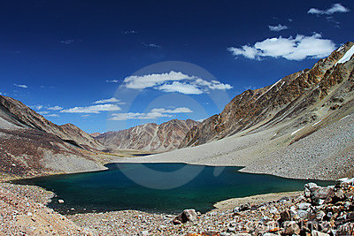 High altitude mountain lake