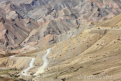 High-altitude road in the Himalayas