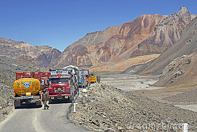 High Altitude Traffic Jam Editorial Photography