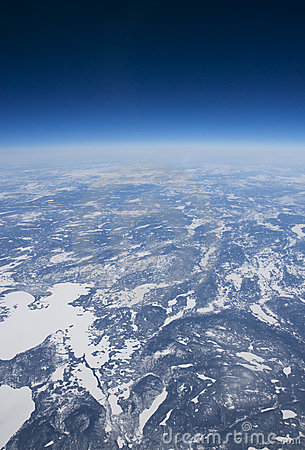 Free High Altitude View Of The Frozen Tundra In Arctic Royalty Free Stock Photos - 22491748