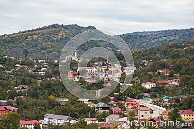High-altitude village in Chechnya - Nozhai-Yurt Stock Photo