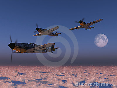 High altitude WWII fighter planes