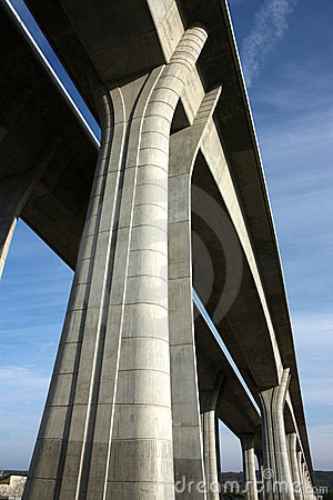 Free High And Long Concrete Bridge Across The Valley Stock Images - 18339494