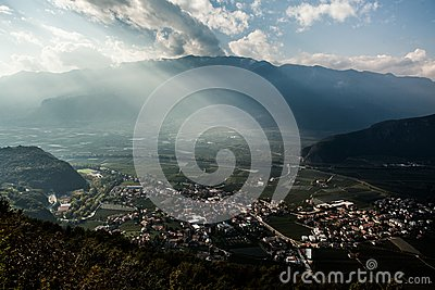 High Angle Shot Of City With Green Trees During Daytime Free Public Domain Cc0 Image