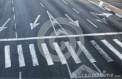 Intersection Zebra Crossing