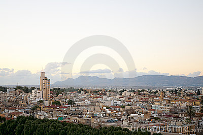 High Angle View At Nicosia City. Royalty Free Stock Photography - Image: 17528187