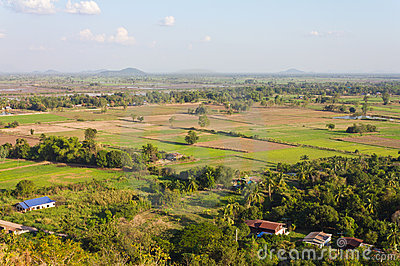 High angle view of rural areas.