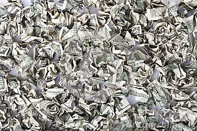 Crimped Cash Background