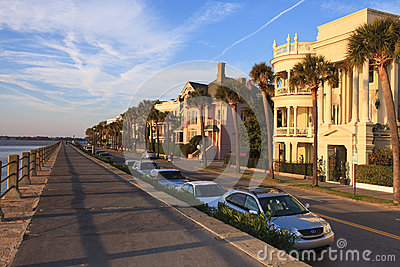 High Battery Charleston South Carolina Editorial Stock Photo
