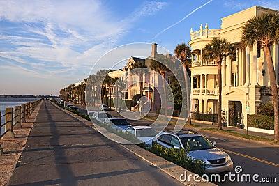 High Battery Charleston South Carolina Editorial Stock Photo
